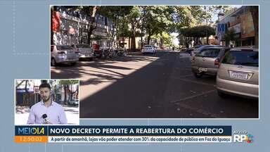 Novo decreto permite reabertura do comércio em Foz do Iguaçu - A partir de amanhã (22), lojas vão poder atender com 30% da capacidade de público.