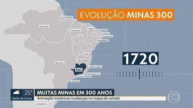 Minas 300 anos: animação mostra as mudanças no mapa do estado - O estado já teve um pedaço da Bahia.