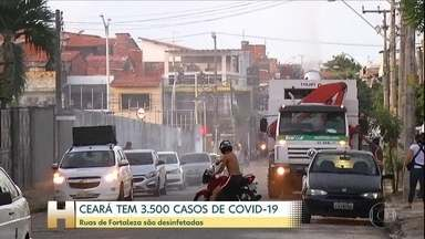 Serviço público de saúde do Ceará sofre com a Covid-19 - A maioria dos leitos de UTI na rede pública está ocupada. Em Fortaleza começa a valer hoje um decreto que reforça as medidas de distanciamento social. Na periferia da capital, ruas estão sendo desinfetadas.
