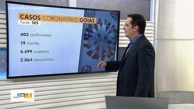 Goiás tem mais de 400 casos de coronavírus - Dezenove pessoas morreram.