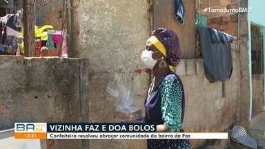 Confeiteira baiana faz e doa bolos à comunidade do bairro da Paz - Confira ação de solidariedade.