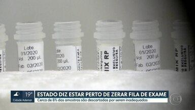 Governo de SP diz estar perto de zerar fila de exame para Covid-19 - Cerca de 8% das amostras são descartadas por serem inadequadas.