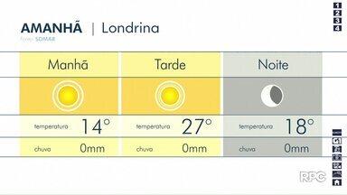 Londrina terá uma quarta (22) de tempo aberto - Previsão aponta manhã com frio e tarde de tempo agradável