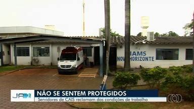 Servidores do Ciams Novo Horizonte reclamam que não recebem cuidados contra o coronavírus - Três tiveram resultado positivo para a Covid-19 e sete esperam o resultado dos exames.
