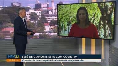 Bebê de Cianorte testa positivo para o coronavírus - O menino de 1 ano chegou a ficar internado, mas já teve alta.