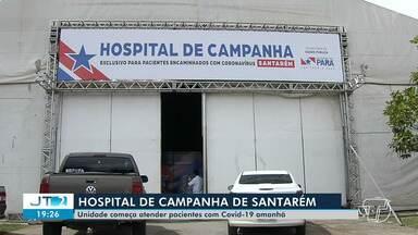 Hospital de Campanha começa a funcionar em Santarém na quarta-feira, 22 - Unidade hospitalar atenderá pessoas acometidas por coronavírus.