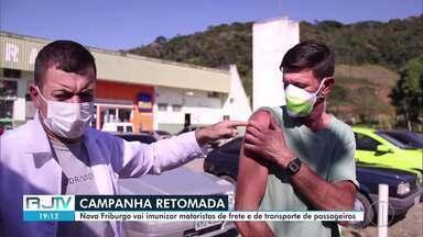 Nova Friburgo, RJ, começa mais uma fase da campanha de vacinação contra gripe - Imunização acontece nesta quarta-feira (22) e será direcionada a motoristas de frete e de transporte de passageiros
