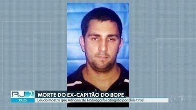 """Laudo da perícia mostra que Adriano da Nóbrega foi atingido por dois tiros - Apontado como chefe do """"escritório do crime"""", o ex-PM foi morto por policiais na Bahia."""