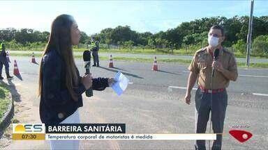 Barreiras sanitárias começam a funcionar na Grande Vitória - Objetivo é controlar a circulação de pessoas com coronavírus. Em Viana e em Vila Velha as barreiras já estão funcionando.