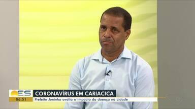 Prefeito Juninho avalia o impacto do coronavírus em Cariacica, no ES - Prefeito esteve no estúdio do Bom Dia ES.