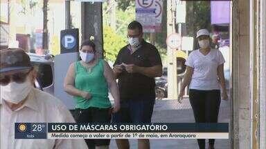 Uso de máscaras passa a ser obrigatório a partir de 1º de maio em Araraquara - Medida foi recomendada pelo Comitê de Contingência do Coronavírus.