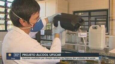 UFSCar precisa de doações para continuar produzindo álcool 70% e glicerinados - Insumos ajudam na higienização de unidades de saúde.