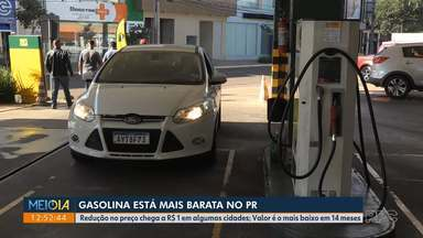 No Paraná, gasolina chega ao valor mais baixo dos últimos 14 meses - Redução no preço chega a R$ 1 em algumas cidades.