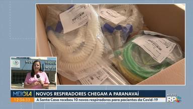 Paranavaí recebe novos respiradores - A Santa Casa recebeu 10 novos respiradores para pacientes da Covid-19.