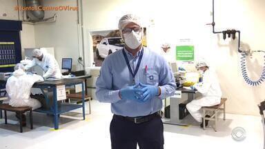 GM muda fabricação apra auxiliar no combate ao coronavírus - A GM lidera a força tarefa voluntária pra conserto dos respiradores pulmonares aqui no Brasil. A fabrica da GM em Gravataí é um dos 37 pontos de apoio espalhados pelo país