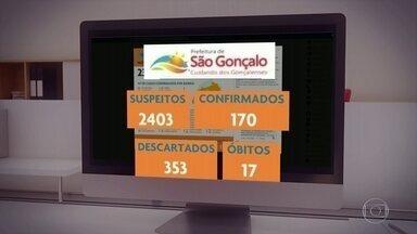 Prefeitura de São Gonçalo confirma mais 5 mortes por Covid-19 - No total a cidade já registrou 17 óbitos, 170 casos confirmados e tem ainda mais 2.403 casos suspeitos.