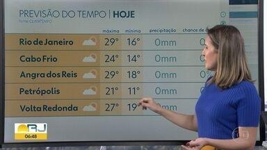 Veja a previsão do tempo para o fim de semana e fotos enviadas por telespectadores - Fim de semana de outono deve ser de sol no Rio.