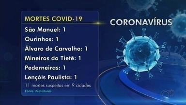 Confira o número de casos confirmados e mortes por Covid-19 no centro-oeste paulista - Veja o balanço divulgado pelas prefeituras do centro-oeste paulista com os casos de Covid-19.