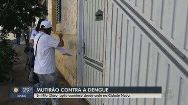 Rio Claro faz mutirão contra a dengue neste sábado - Cidade soma 431 casos da doença e investiga 2 mortes suspeitas.