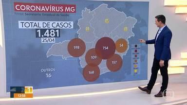 Veja os números da Covid-19 em Minas neste sábado - Secretaria de Estado de Saúde divulgou os resultados no fim da manhã de hoje (25/04). O estado registra 58 mortes.