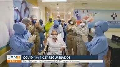 No Amazonas, 1037 pessoas se recuperam da Covid-19 - Com 306 novos casos, estado registra 3194 casos confirmados.