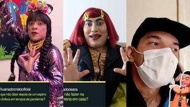 Humoristas cearenses mostram como se cuidar nessa quarentena - Luana do Crato, Titela e Talmon Lima mostram o que fazer e o que não fazer para se proteger do coronavírus