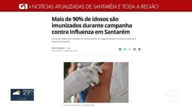 Confira os destaques do G1 Santarém e região no Jornal Tapajós 1ª Edição - Confira essa e outras notícias acessando o G1 pelo celular, tablet e computador.