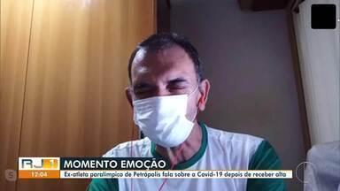 Ex-atleta paralímpico de Petrópolis, RJ, se recupera da Covid-19 e recebe alta do hospital - Marcelo Gonçalves, de 53 anos, ficou 13 dias internado na UTI de um hospital particular. Além dele, a mãe e 2 irmãos também foram contaminados, mas já se recuperaram.