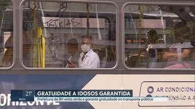Prefeitura de BH revoga decreto que proibia gratuidade a idosos no transporte público - A Prefeitura de Belo Horizonte (PBH) revogou o artigo do decreto que proibia a gratuidade a idosos no transporte público da capital em horários de pico. A decisão foi publicada no Diário Oficial do Município (DOM) neste sábado (25). Nesta sexta-feira (24), a Justiça de Minas Gerais já havia suspendido o decreto, determinando multa de R$ 15 mil por cada restrição, em caso de descumprimento.