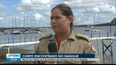 Corpo encontrado no mangue em Cabedelo - Perícia vai indicar se é de adolescente desaparecida na cidade.