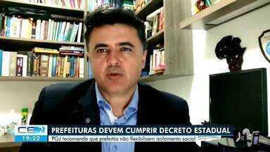 No interior prefeituras autorizam a reabertura de comércios e Ministério Público intervém - Saiba mais no g1.com.br/ce