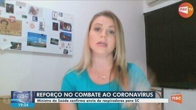 Ministro da Saúde confirma o envio de respiradores para Santa Catarina - Ministro da Saúde confirma o envio de respiradores para Santa Catarina