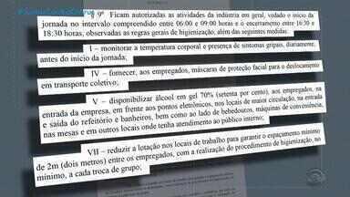 Prefeitura de Porto Alegre libera funcionamento controlado de indústrias - Empresas podem retomar atividades observando protocolos de higiene e minimização de risco de contágio.