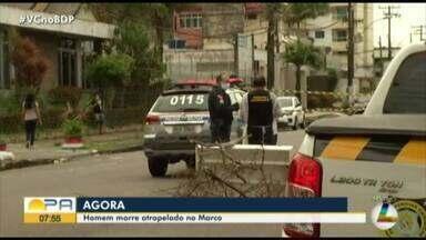 Homem é atropelado na travessa Enéas Pinheiro - Homem é atropelado na travessa Enéas Pinheiro