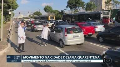 SP2 - Edição de segunda-feira, 27/04/2020 - Movimento em São Paulo desafia quarentena e ameaça a reabertura de comercio não essencial. Aulas da rede públicam recomeçaram nesta segunda.
