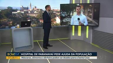 Santa Casa de Paranavaí precisa de ajuda - Hospital precisa de equipamentos de proteção individual.