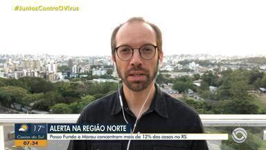 Daniel Scola comenta avanço do coronavírus em Passo Fundo e Lajeado - Assista ao vídeo.
