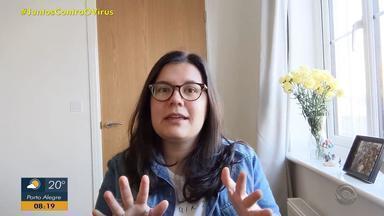 Jornalista cria campanha para ajudar hospital de Venâncio Aires no combate ao coronavírus - Ela desafiou os amigos a praticar atividades físicas e doar R$ 10 para o local. Ideia é arrecadar R$ 10 mil.