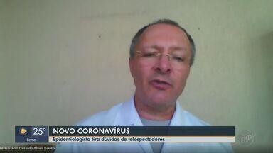 Epidemiologista tira dúvidas de telespectadores sobre coronavírus - É possível enviar as perguntas para o WhatsApp (16) 99643-5959.