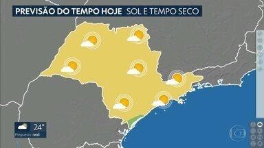 Veja a previsão do tempo para os próximos dias em SP - As temperaturas estão dentro do normal para o mês de abril e a previsão é de que o sol e o tempo firme continuem.