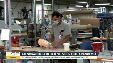 Atendimento a deficientes durante a pandemia - Paciente estão recebendo próteses em casa.