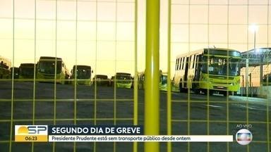 Paralisação no transporte público em Presidenet Prudente - Liminar garante circulação de 50% da frota.