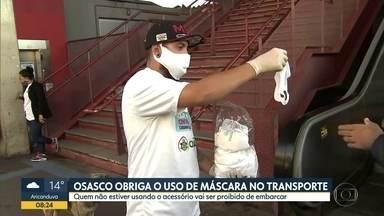 Osasco obriga uso de máscara no transporte - Quem não estiver usando proteção não poderá embracar
