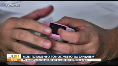 Secretaria de Saúde de Santarém monitora pacientes com sintomas gripais com oxímetro - Secretaria de Saúde de Santarém monitora pacientes com sintomas gripais com oxímetro