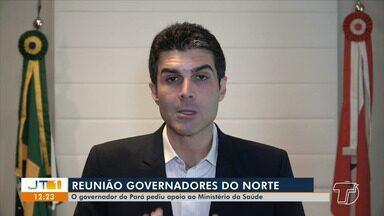 Durante reunião, governador Helder Barbalho pede apoio a Ministro da Saúde - Governador pediu também que o Governo envie 100 respiradores, reposição de EPI's e um reforço de profissionais de saúde.