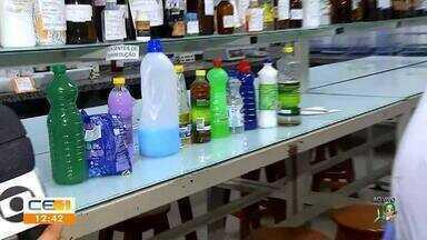 Saiba quais cuidados deve ter com produtos de limpeza em casa - Saiba mais no g1.com.br/ce