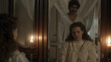 Leopoldina decide dormir em quarto separado de Pedro - A princesa avisa que não vai embora para a Áustria, como Pedro sugeriu, mas não vai mais viver como esposa do príncipe