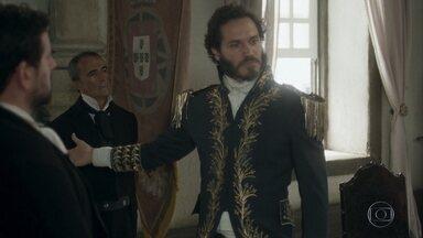 Avilez anuncia que denunciou Dom Pedro à corte portuguesa - O general faz planos para que o príncipe seja enviado de volta a Portugal por ter cedido terras reais aos povos indígenas