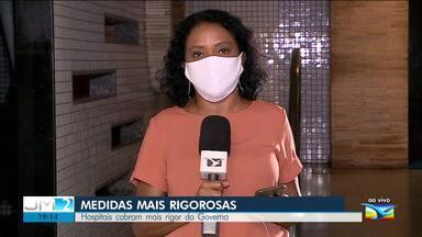 Hospitais privados cobram mais rigor do governo do estado - A repórter Regina Souza tem mais informações.
