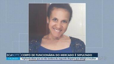 Foi sepultado o corpo de funcionária morta com um tiro dentro de supermercado em Araucária - O disparo aconteceu no momento da confusão entre vigilante e cliente que se recusou a usar máscara dentro do mercado.